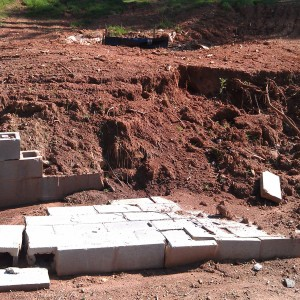Poorly constructed retaining wall